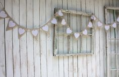 Shabby cottage  10 foot Heart garland by victorianstation on Etsy, $59.00