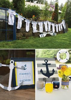 Ahoy: It's a boy! Get on board with the nautical trend and host a charming #babyshower like @hwtm.