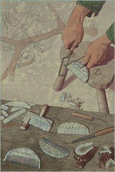 Kammager, Germansk jernalder, Brandenburg – Kammacherwerkstatt, Germanische Eisenzeit, Brandenburg – Comb-making, Germanic Iron Age, Brandenburg