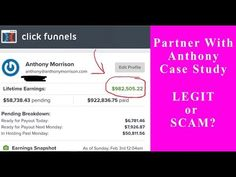 Anthony Morrison - Case Study Partner with Anthony (PWA) Affiliate Marketing Video Training - Legit? Business Advice, Business Opportunities, Online Business, Perfect Image, Perfect Photo, Day Work, Multi Level Marketing, Promote Your Business, Love Photos