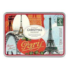 Cavallini Vintage Paris Christmas Mailing Set