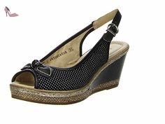 Remonte , Sandales pour femme noir Schwarz 36 - noir - Schwarz, 42 EU - Chaussures remonte (*Partner-Link)