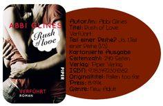 """Mit """"Rush of Love – Verführt"""" verführt Abbi Glines ihre Leser dazu die Geschichte von Rush und Blaire in einem Rutsch durchzulesen. Die Handlung ist zwar nichts großes, da vieles bereits bekannt ist, dafür punktet sie jedoch mit einem leichten Schreibstil und liebevoll gezeichneten Charakteren. Alles in allem wurde ich wirklich gut unterhalten, sodass ich dieses Buch sehr wohl empfehlen kann. Wer eine nette Lektüre für zwischendurch sucht, wird auf jeden Fall auf seine Kosten kommen."""