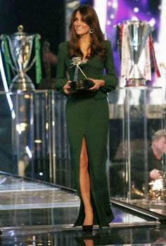Kate Middleton - emerald is beautiful on Kate...