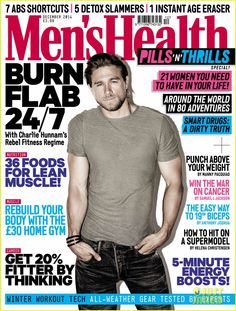 Charlie Hunnam Muscles Up for 'Men's Health UK' December Cover'!
