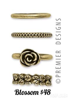 Blossom ring set / Premier Designs Jewelry