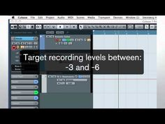 Cubase 7 Quick Start Video Tutorials - Chapter 3 - Basic audio recording - YouTube