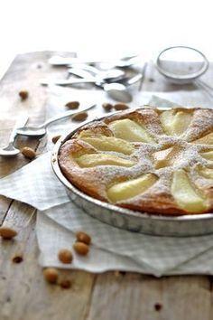 Pæretærte med marcipan og mandelmel - den bedste efterårskage