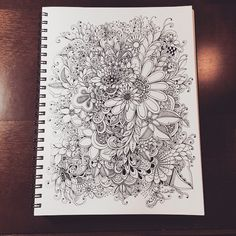 zentangle inspired flowers – doodles by kc Ink Doodles, Doodles Zentangles, Flower Doodles, Zentangle Drawings, Zentangle Patterns, Doodle Drawings, Zen Doodle, Doodle Art, Doodle Inspiration