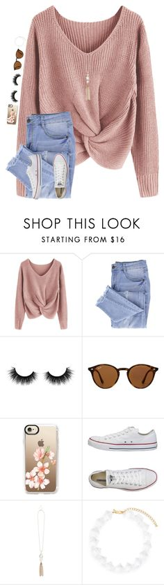 """•❤️•"" by mackenzielacy814 ❤ liked on Polyvore featuring Essie, Artémes, Ray-Ban, Casetify, Converse and Kenneth Jay Lane"