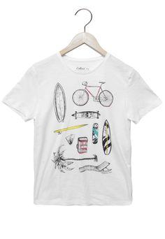 Camiseta Colcci Fun Manga Curta Bike Branco 8a5dcf410abb1