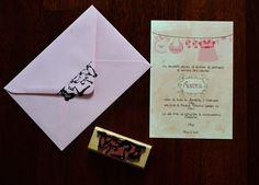 invitatie personalizata botez fata, baptism invitation papergoodsart.ro