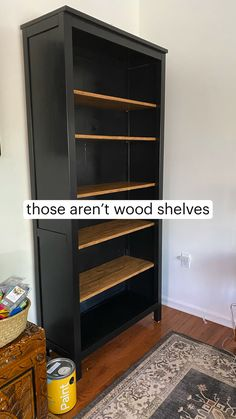Diy Furniture Covers, Simple Furniture, Ikea Furniture, Furniture For Small Spaces, Furniture Projects, Furniture Makeover, Furniture Storage, Painted Bookshelves, Wood Shelves