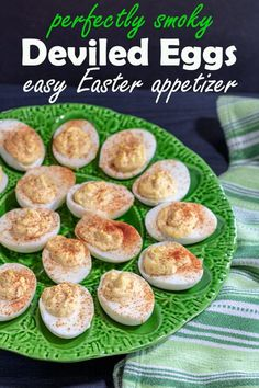 Quick and easy! Smoky Deviled Eggs are a super easy appetizer that are perfect for any party any time of the year! They are great for Easter or Mother's Day! #appetizer #deviledeggs #easyrecipes #binkysculinarycarnival Popular Appetizers, Make Ahead Appetizers, Finger Food Appetizers, Easy Appetizer Recipes, Delicious Appetizers, Dinner Recipes, Spring Recipes, Holiday Recipes, Holiday Foods