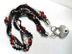 Collier handmade jewelry from ©viennadarkness Collars, Handmade Jewelry, Bracelets, Fashion, Erotica, Bangles, Necklaces, Moda, La Mode