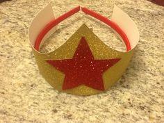 Wonder Woman crown / hat by PrincessesNeeded on Etsy, $4.99