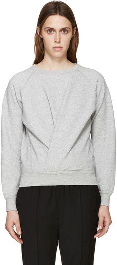 Isabel Marant Etoile Grey Twisted Belden Sweatshirt
