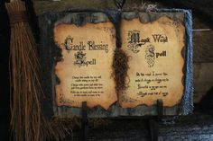 Halloween Spell Book  Candle bénédiction & par HauntedMoonEmporium