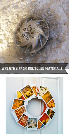 Make wreaths from recycyled materials at totallygreencrafts #crafts #recycledCrafts #DIY #Wreaths