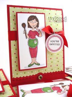 Homemade Christmas Cookie Exchange Invitations - Oh My Creative Homemade Christmas Cards, Christmas Goodies, Homemade Cards, Christmas Fun, Christmas Baking, Christmas Recipes, Handmade Christmas, Christmas Decorations, Cookie Exchange Party