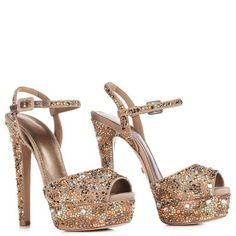 LE SILLA Sandal Camouflage In Pompei Colour, Suede Crystals And Stones. #lesilla #shoes #sandals