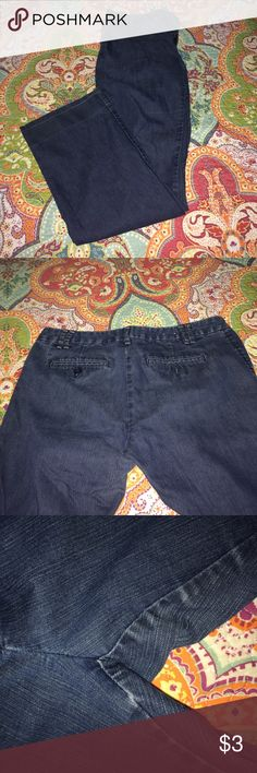 Women's Gap Jean Trouser Pants Worn many of times but still has tons of life left, see picture of wear in crotch, has all buttons, price reflects Conditon, no rips stains or tears, NO TRADES OR PAYPAL, PRICE FIRM. Gap Jeans