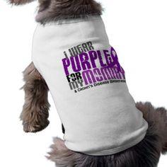 I Wear Purple For My Mommy 6 Crohn's Disease Doggie Tshirt