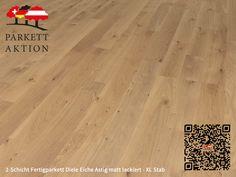 2-Schicht Fertigparkett Diele Eiche Astig matt lackiert - XL Stab Format: 1200 x 120 x 11 mm 100 M2, Hardwood Floors, Flooring, Texture, Crafts, Wood Floor, Deck Flooring, Humidifier, Wood Floor Tiles