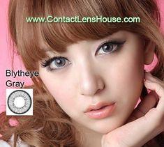 Blytheye Gray color circle lens. Korean cosmetic lenses.  We Ship Worldwide | Shop @ ContactLensHouse.com