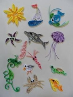 Simple Quilling Starter Kit - At the seaside - Quilled Paper Art Quilling Supplies, Paper Quilling Cards, Paper Quilling Flowers, Paper Quilling Tutorial, Quilling Animals, Paper Quilling Patterns, Quilled Paper Art, Quilling Paper Craft, Paper Crafts