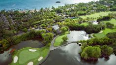 Golfing at the luxurious Belle Mare in Mauritius