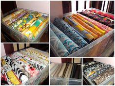 Daffy's Dream: Fabric organizing - DIY