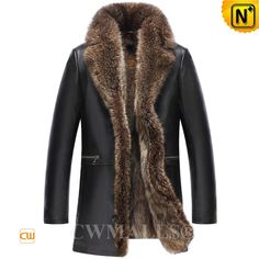 CWMALLS® Mens Raccoon Fur Lined Leather Coat CW836022 Winterized fur coat for men crafted from natural raccoon fur trim and lined, smooth lambskin leather shell, CWMALLS fur lined leather coat featuring with supple raccoon fur trim / lined,zip details waist, it keeping you insulated on the chilliest of days. www.cwmalls.com PayPal Available (Price: $1817.89) Email:sales@cwmalls.com
