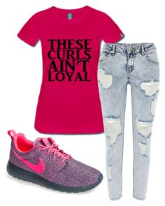 Untitled #93 by keepcalmandbecurly on Polyvore featuring River Island, NIKE, women's clothing, women's fashion, women, female, woman, misses and juniors