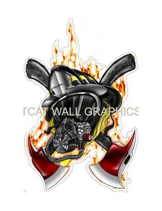 Hey, I found this really awesome Etsy listing at https://www.etsy.com/listing/176095276/6-fireman-firefighter-hero-axe-logo-wall