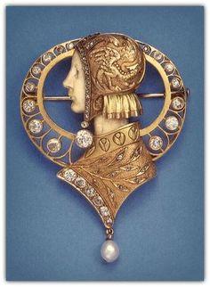 LUIS MASRIERA | Art Nouveau Brooch / Pendant (n.d.)