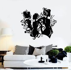 Wall Vinyl Decal Barbershop Beauty Hair Salon Ladies by BoldArtsy