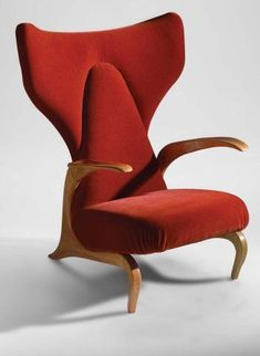 Carlo Mollino; Lounge Chair, 1950s.