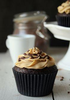 Coffee Cupcakes w/ espresso frosting