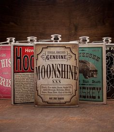 Trixie & Milo Flasks - super funny collection of labels!