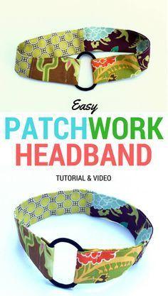 10 Minute Pony-O Headband Tutorial - DIY Crush - - Headbands are so easy to make and a great project to use up scrap fabric. This free pony-O headband tutorial only takes 10 minutes to make. Sewing Headbands, Fabric Headbands, Handmade Headbands, No Slip Headbands, Running Headbands, How To Make Headbands, Headband Pattern, Diy Headband, Fabric Headband Tutorial