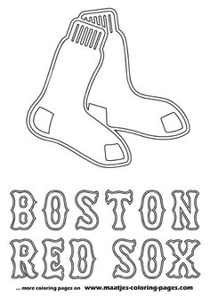 Red Sox coloring page Something to do while waiting for spring