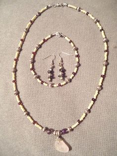 Handmade Beaded Jewelry Set of 3 by LaurelMoonCreations on Etsy, $34.99