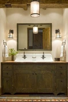 French Farmhouse Living: Vintage Dresser Turned Vanity... Well, Why Not?