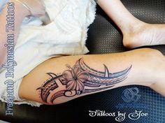 thigh tat #samoan #tattoo