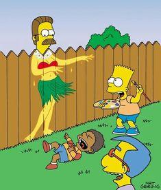 Bart and Ned Flanders Futurama, Simpson Tv, Lisa Simpson, Simpson Wallpaper Iphone, Disney Wallpaper, Simpsons Simpsons, Simpsons Springfield, Simpson Tumblr, Los Simsons