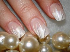 Nail design for a wedding or graduation