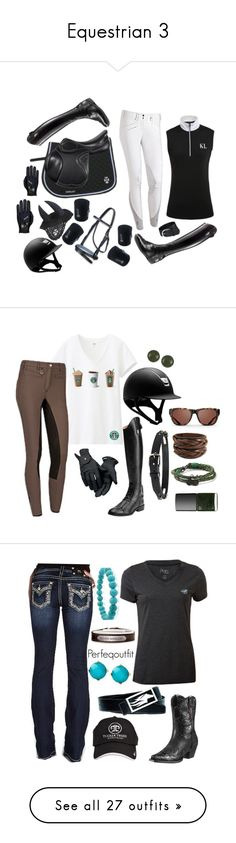 """Equestrian 3"" by jumpers-eq ❤ liked on Polyvore featuring Parlanti, Uniqlo, Ariat, Roeckl, Triwa, Diesel, NARS Cosmetics, Miss Me, Kenneth Cole and Bling Jewelry"