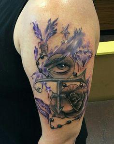 Prince tribute tattoo