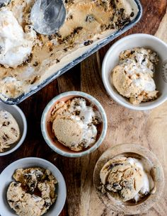 Chocolate chip cookies and cream pumpkin marshmallow ice cream.